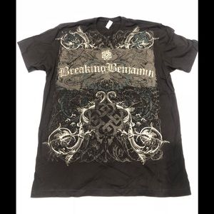 Next Level Apparel Shirts - 🎸 Breaking Benjamin Black cotton T-shirt new L